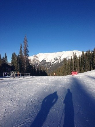 Great day for skiing!  What an awesome place!