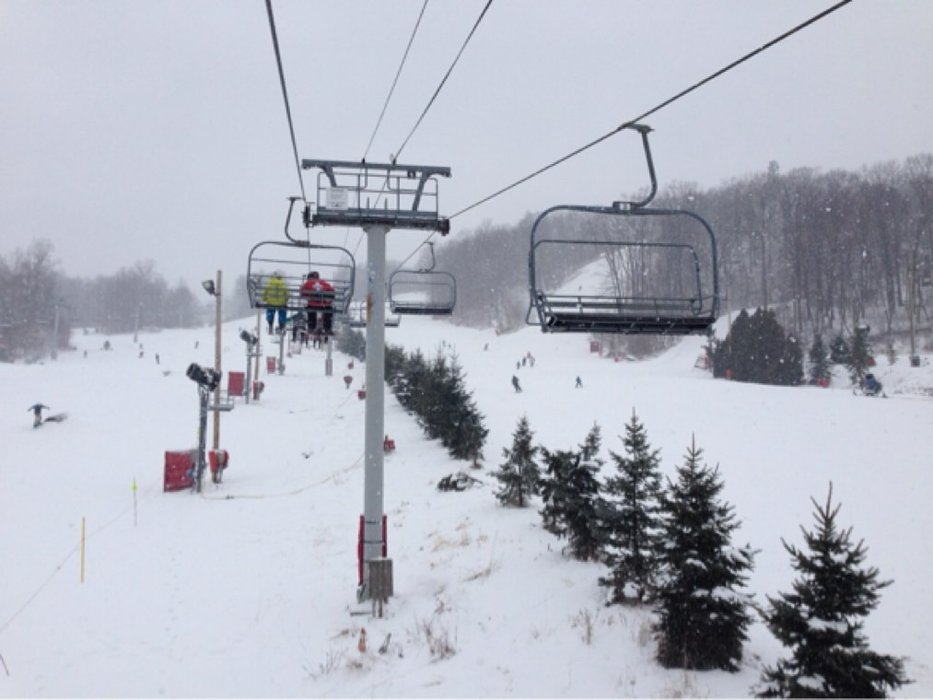 Great day of powder skiing in PA at Bear Creek yesterday!  18 open trails and no lines.  Best east coast conditions in years!