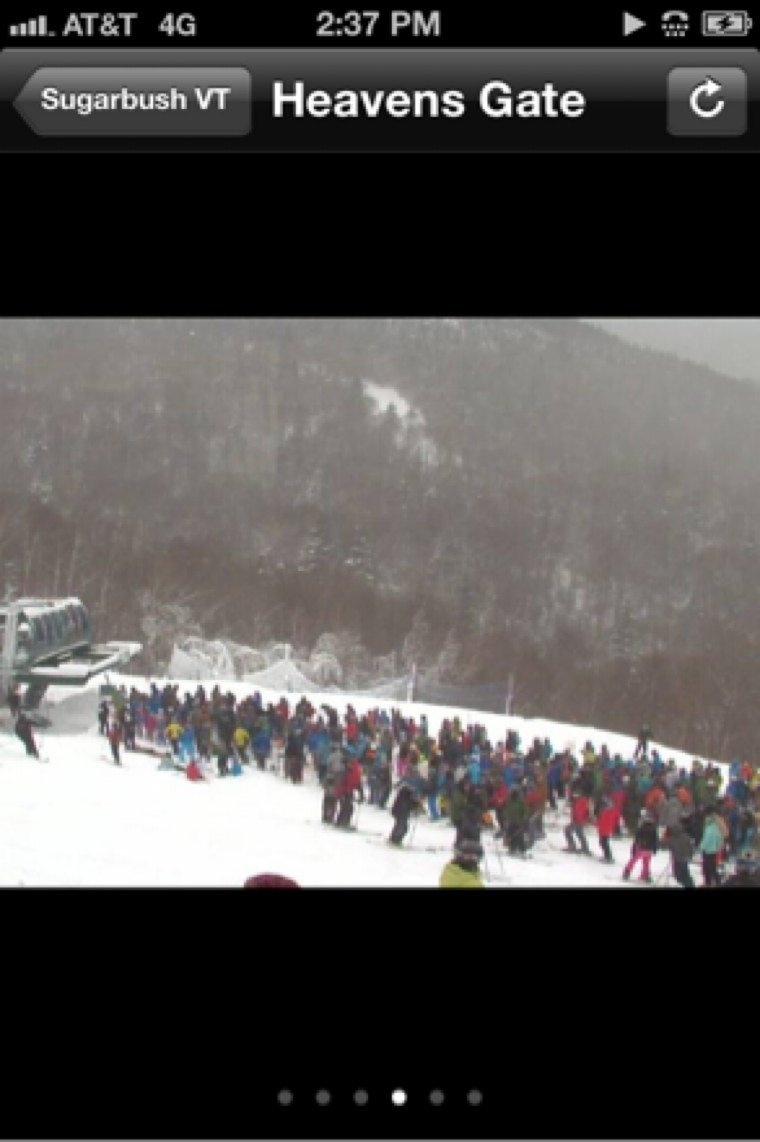 Never seen it so busy before xmass  lines were long all day, snow was good  natural trails took a beating fun while it lasted