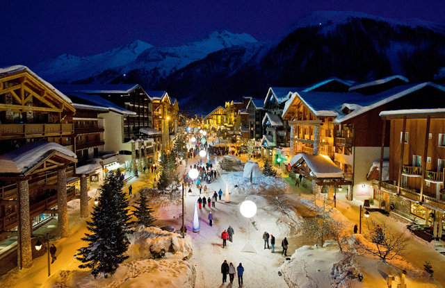 The Val d'Isere village, in spite of dating back nearly 400 years, is popping with dance clubs and après ski bars. - ©Andy Parant