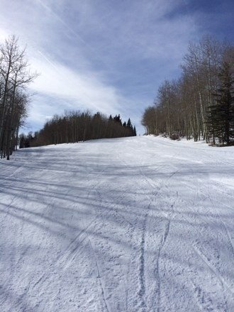 Right now your pretty much alone Empty slopes awesome! snow is good, sun is warm