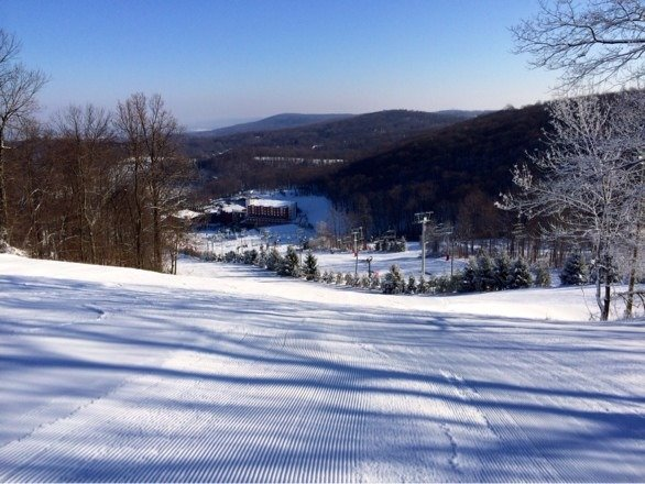 Been riding here for ten years, best conditions I've ever seen, snowpack is all real snow (not machine made) get here before it's 60 degrees this weekend!