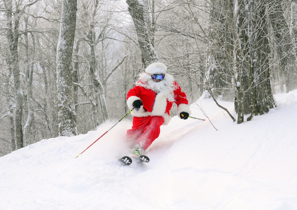Santa slaying at Mad River Glen! - ©Mad River Glen Resort