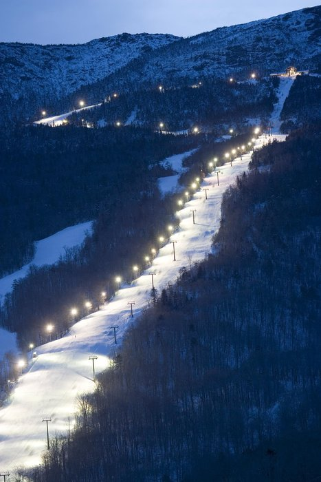 Skiing at Stowe Mountain Resort, Stowe, Vermont