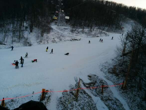 crowded but good Snow