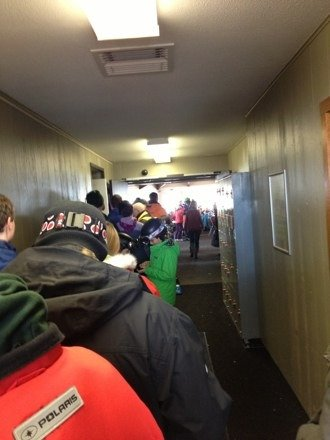 Hour long line for lift tickets! Ridiculous!