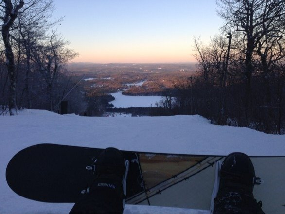 Packed powder with icy spots.  Just hella cold out!!