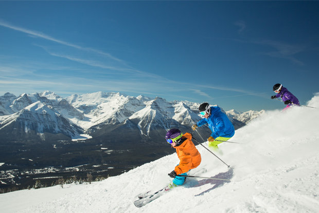 Lake Louise operates lifts into early May.