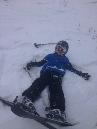 Good day on the mountain with my 7 & 5 y/o.  Not too crowded. They need snow and should get 1-3