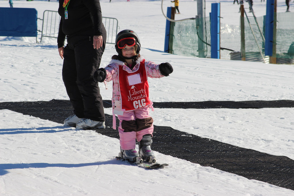 Nothing beats the feeling of learning to slide on snow. - ©Liberty Mountain