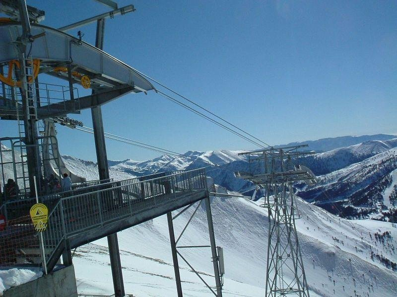 A view of the lifts and mountains in Pal-Arnisal, Andorra