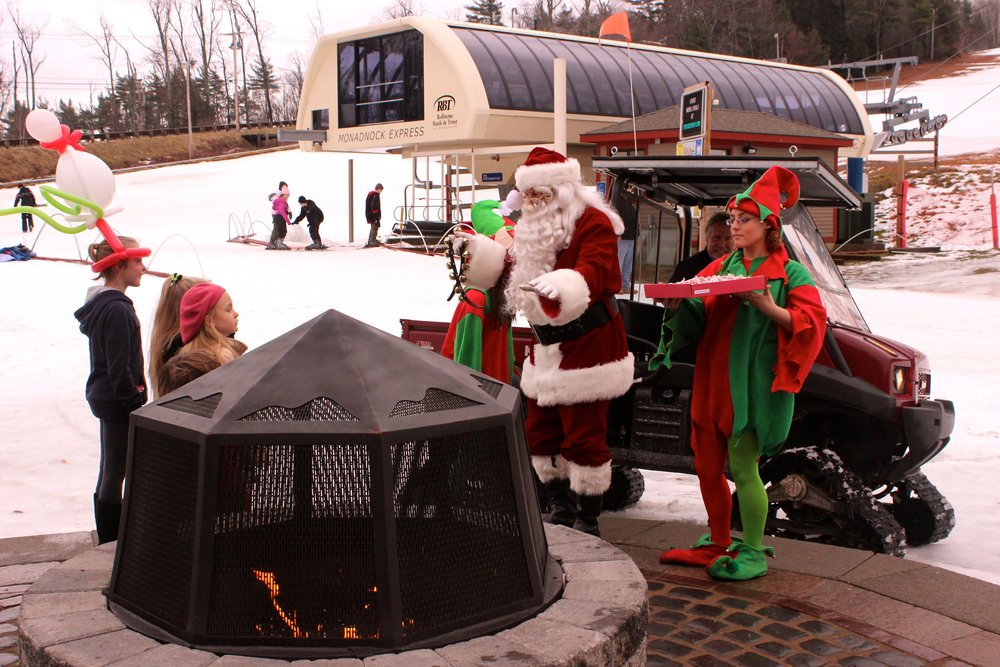 Santa tops to share candy canes by the fire pit!