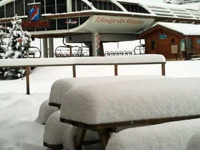 Snow in Les Menuires Nov. 15, 2013