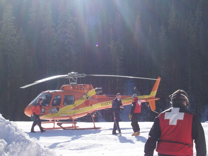 Monarch Mountain, Colorado's employees performing a safety drill