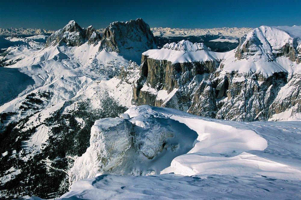 A panorama of Val Gardena, ITA.