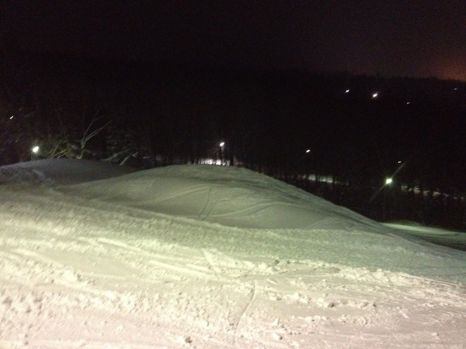 huge whales in mid park last night. theyve filled the quarter pipe to the brim!