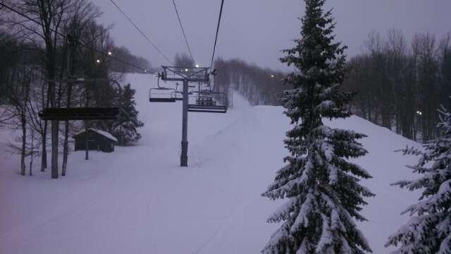 Awesome powder day! Snowed all day! Woods full of fresh powder.