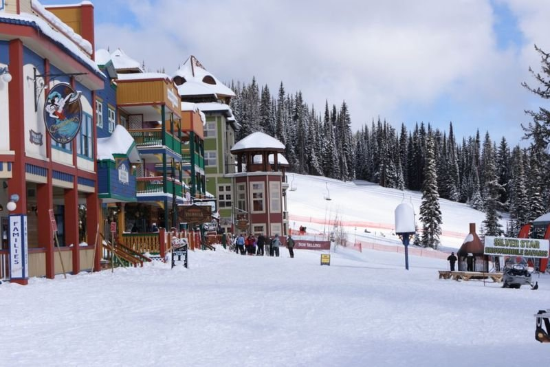 Base view of Silver Star Mountain Resort, British Columbia