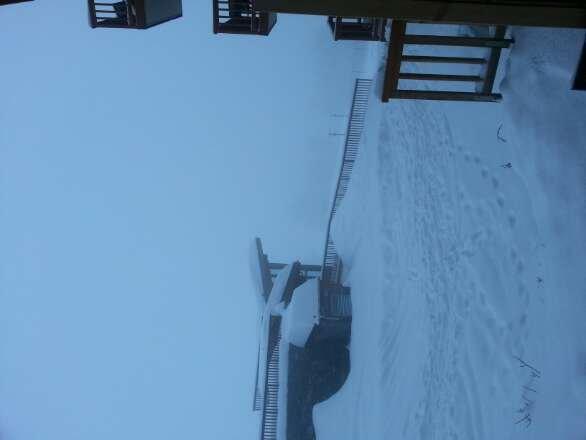 Arrivés hier soir sous la neige. Aujourd'hui jour blanc.Pas de vent