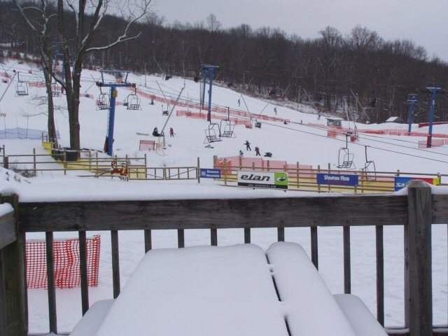 A view from the deck of the chairlifts at Shawnee Mountain, Pennsylvania