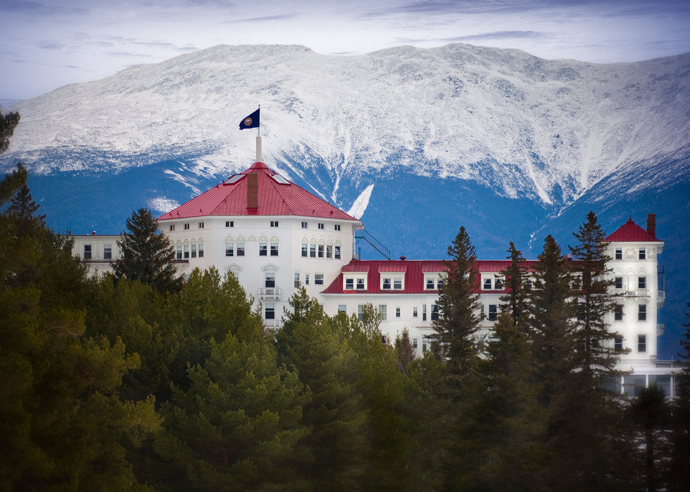 A view of the Mt. Washington hotel and Bretton Woods resort in Bretton Woods, New Hampshire