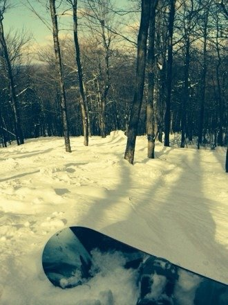 Custom X in woods plenty of powder stashes, sick day