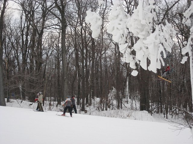 Cross country skiing in the backcountry of Wisp Resort, Maryland