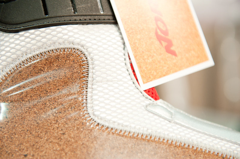 The inner workings of Nordica's new boots, with a cork material for fit.  - © Ashleigh Miller Photography
