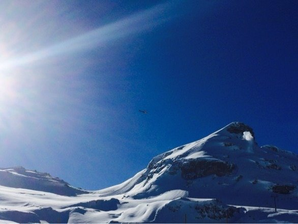 Heli avalanche bombing