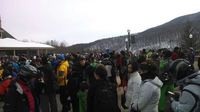 long lines... for pre-bought tickets. lifts will most likely be packed.