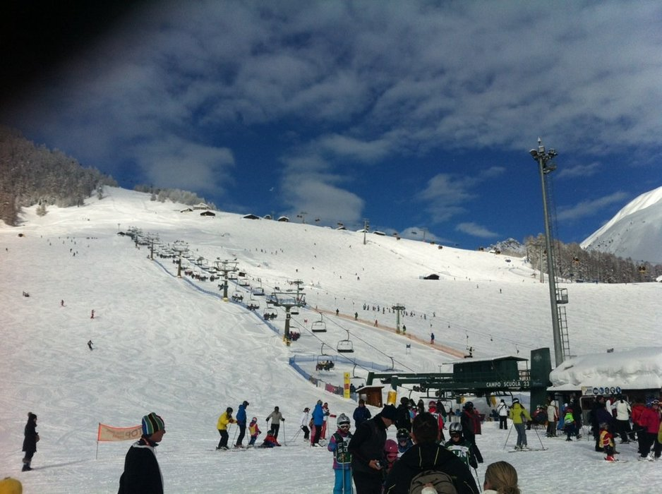 some sun has returned, but lift busy