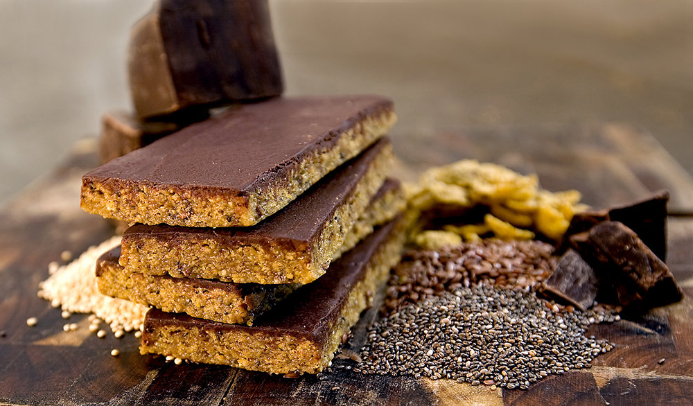 Taos Mountain Bars chocolate butterscotch, classic granola bars that have been artfully reimagined for high-brow ski bums.  - ©Taos Mountain Bars
