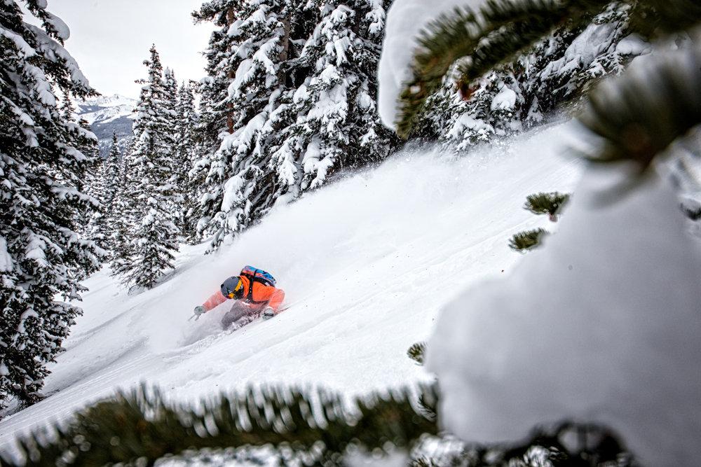 Adam Moszynski gets back to work, tearing up Aspen Mountain. - ©Liam Doran