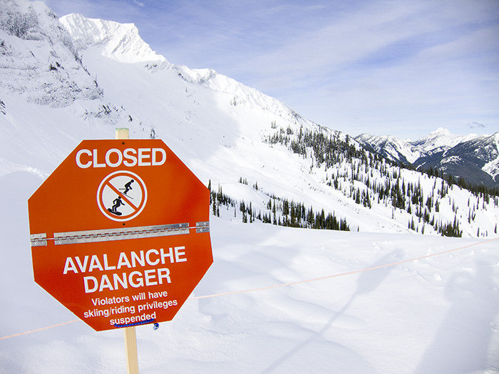 Inbounds avalanche closures denote areas that can potentially slide.