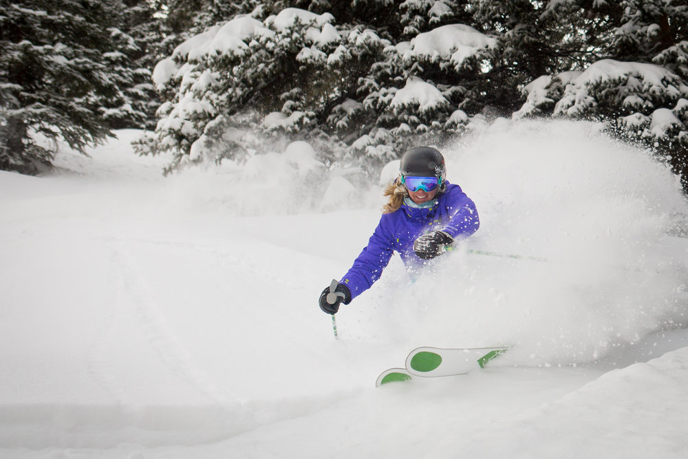 More recently, Darcy has also been picked up by KÄSTLE. She was lured to the Austrian-based performance ski company by Chris Davenport - a part-owner of the company and a fellow Aspen/Snowmass skier.