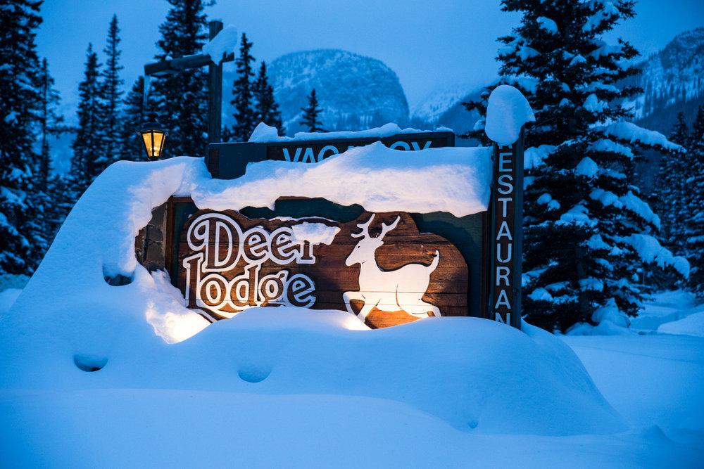 Rustic elegance defines the Deer Lodge at Lake Louise. - ©Liam Doran