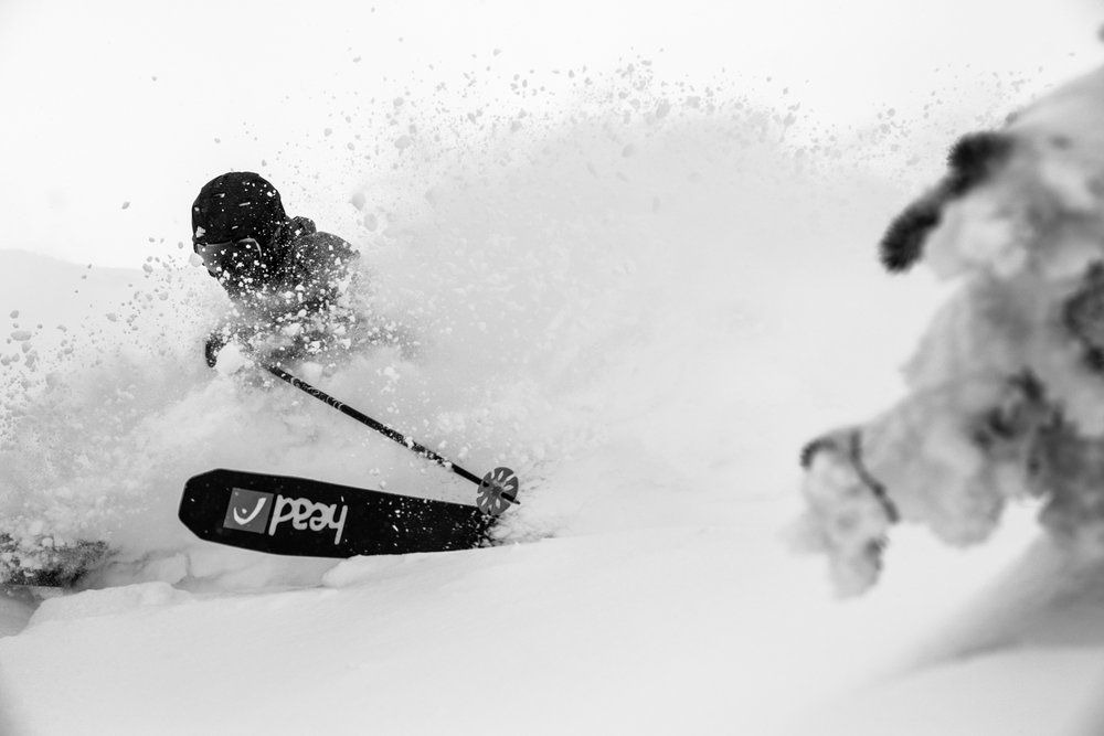 It was a very snowy week in Banff. Skier, Keegan Capel gets yet another powder run at Sunshine.