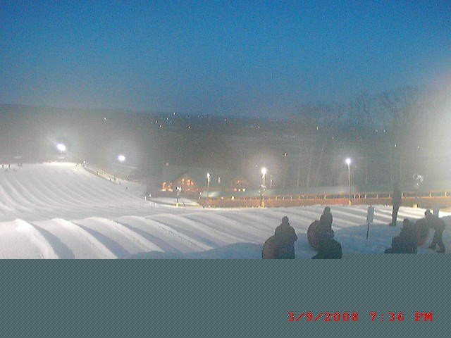 A view of the tubing hill at Liberty Mountain, Pennsylvania
