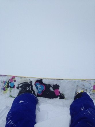 Crazy powder today, and absolutely no visibility at the top! But still an awesome ride loved every minute of the visit