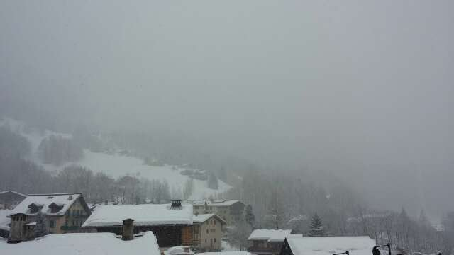 Whiteout this morning & snow forecast for whole day at base & summit - looks like a day for die-hards only!