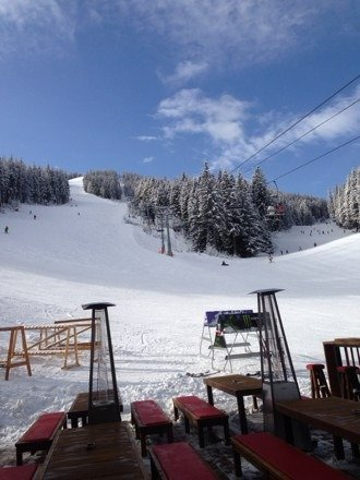 Trying looking at banskoblog.com it has great information about Bansko from ski hire to restaurants etc. you can change money here,  at the mo you can get 2.31 lv to 1 pound. You can also down load the app to your phone. Conditions are fab. Lots of snow.