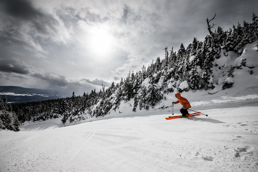 Perfect groomers at MRG for skier, Carter Snow. - ©Liam Doran