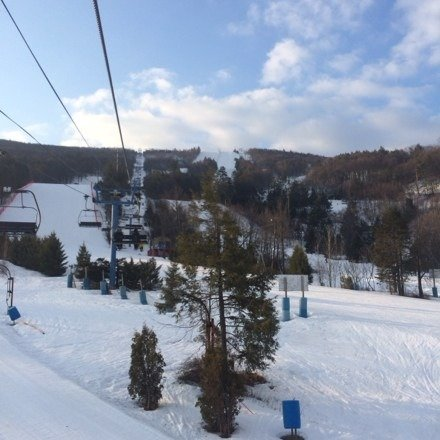 Good day skiing at Blue on Sunday... Started packed snow, kind of crusty/icy, softened by 10am, corn spring snow by noon, slushy by 2pm, but it was 45 a sunny on the mountain. Glades and woods still have good coverage.