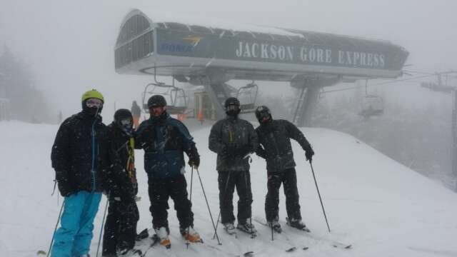 Great skiing yesterday.   overnight snow dumped more pow. Glade skiing today in the Pow Pow Pow.