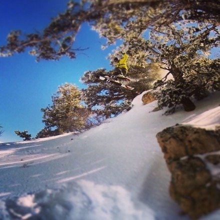 Warm day with some hidden blower freshies in the shade. Best resort in the area to be at today.