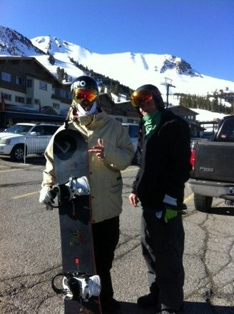 Goon squad doing it real big!!! With the ski pro legend Tom Tanner the 1 of 2  twin