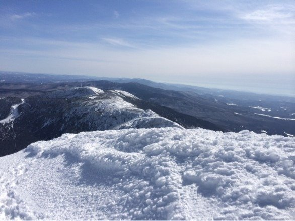 One of those days....So much snow & sun, loving spring on top of VT.