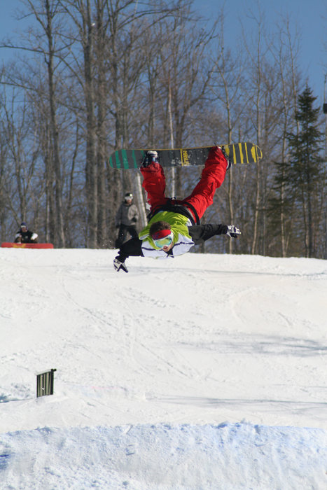 Awesome invert at Indianhead. - ©Indianhead Mountain Resort