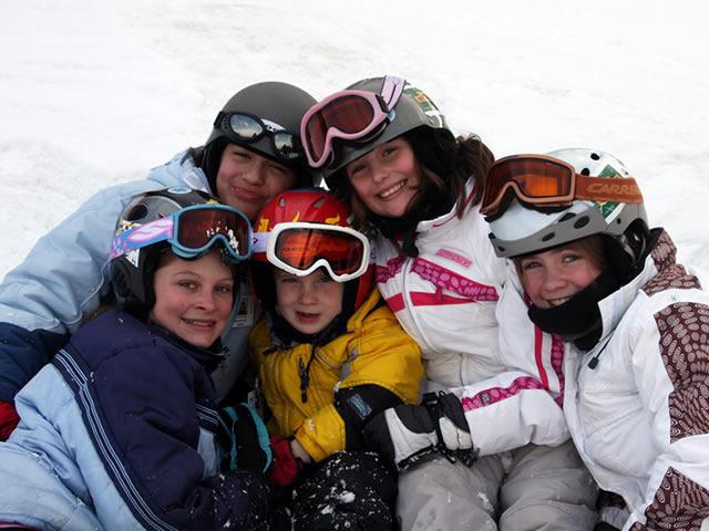 Kids skiing at Shawnee Mountain, PA.