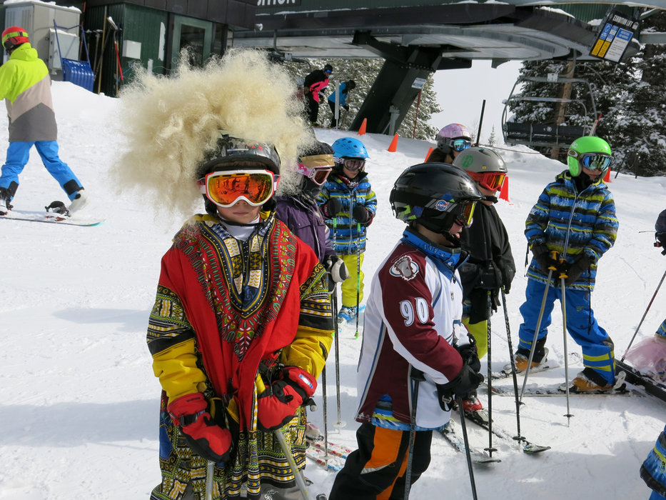 In costume on the slopes in Aspen Highlands